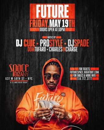 Future at Space Ibiza NYC May 19th 2017!