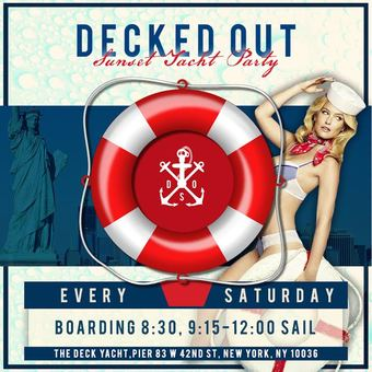 DECKED OUT Saturdays: Sunset Yacht Party