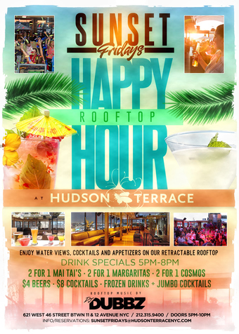 *SUNSET FRIDAYS ROOFTOP HAPPY HOUR - 3 ROOMS - DJ's - FOOD - DRINK SPECIALS!