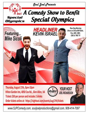 Richmond:  Comedy Show to Benefit Special Olympics