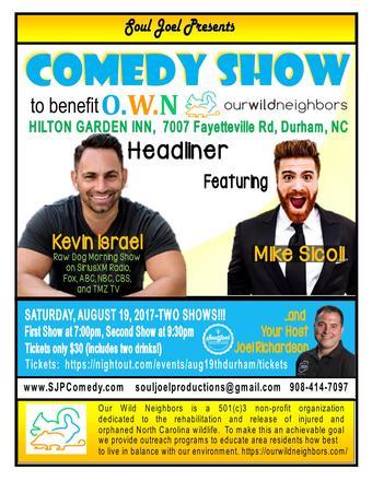 Durham:  Comedy Show at Hilton Garden Inn