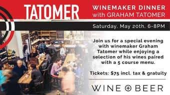 Tatomer Winemaker Dinner at Wine + Beer