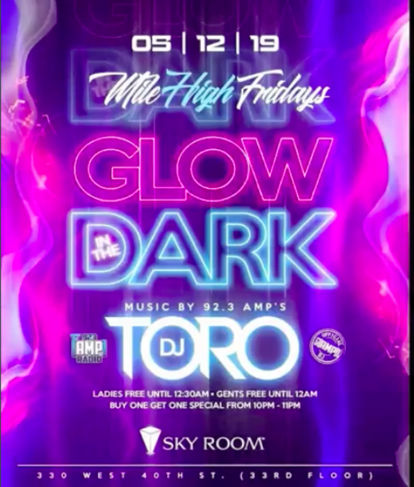 Glow In The Dark Party At Sky Room Tickets Sky Room New York