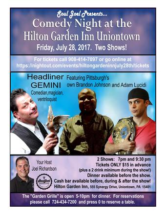 Uniontown: Comedy Night at Hilton Garden Inn