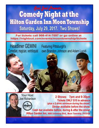 Pittsburgh: Comedy Night at Hilton Garden Inn Moon Township