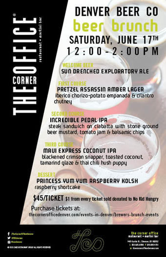 The Corner Office Brewers Brunch Series with Denver Beer Co