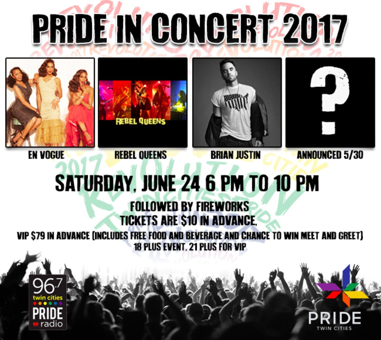 Pride In Concert Tickets Loring Park Minneapolis Mn June 24