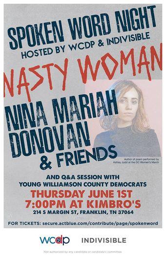 Spoken Word Night w/ Nina Mariah Donovan