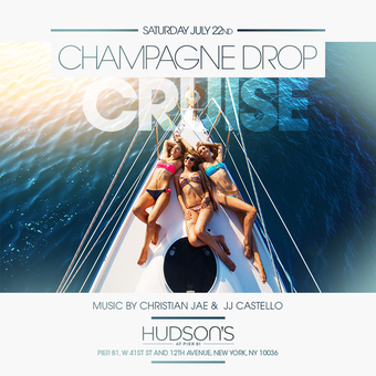 July 22nd Yacht Party at the Champagne Drop  Cruise w/ Christian Jae & Gsepp