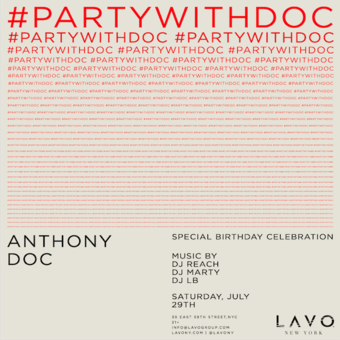 PARTY WITH DOC Birthday Extravaganza at LAVO