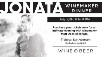 Jonata Winemaker Dinner at Wine + Beer