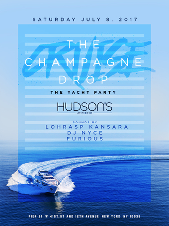 Champagne Yacht Party July 8