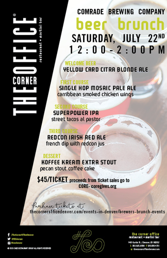 The Corner Office Brewers Brunch Series with Comrade Brewing Company