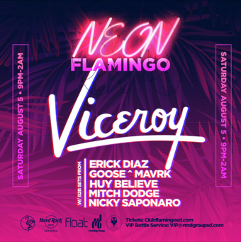 Neon Flamingo with Viceroy