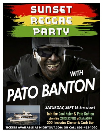 Sunset Reggae Cruise With Pato Banton
