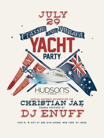 July 29th Midnight Yacht Party w/ Dj Enuff & Christian Jae