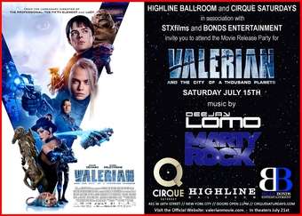 Valerian Release Party at Highline Ballroom