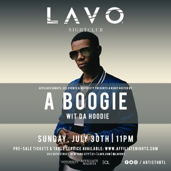 A Boogie with da hoodie at LAVO NY