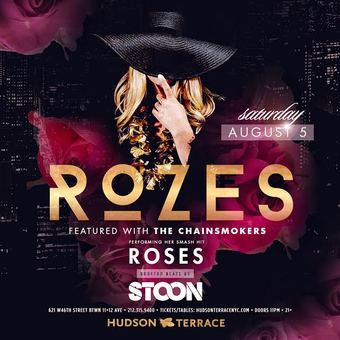 ROZES performing Chainsmokers Hit at Hudson Terrace 8/5