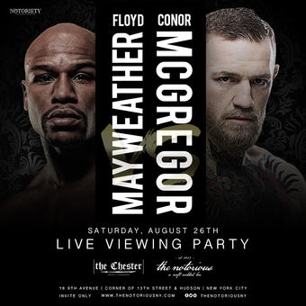 Mayweather vs. McGregor Viewing Party at the Chester Meatpacking 8/26