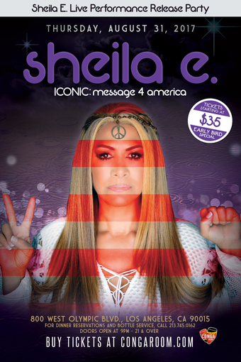 Sheila E. Live performance ICONIC Release Party