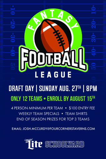 Schoolyard's Fantasy Football League Draft