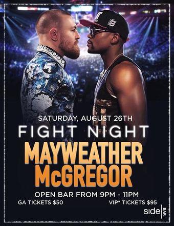Mayweather vs McGregor Open Bar