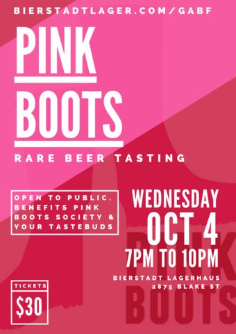 Pink Boots Rare Beer Tasting