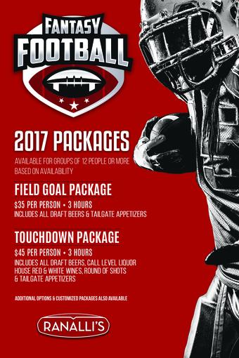 Ranalli's 2017 Fantasy Football Packages