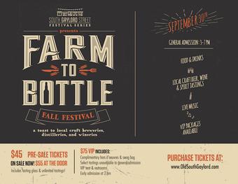 Farm to Bottle 2017