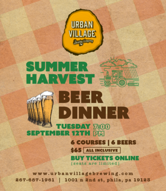 Summer Harvest Beer Dinner - Philadelphia, PA