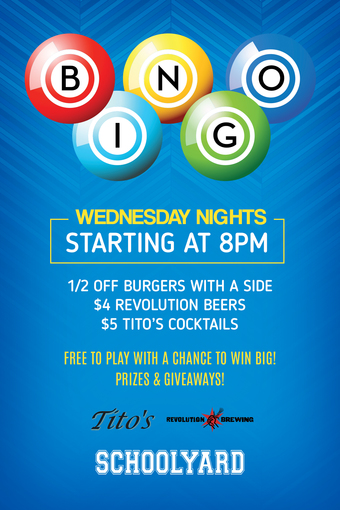 Bingo Every Wednesday Night at Schoolyard!