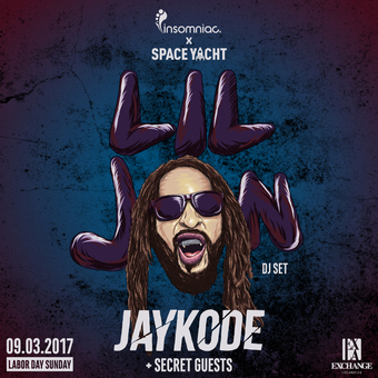 Insomniac x Space Yacht present Lil Jon w/ Jaykode + Secret Guests