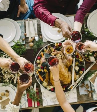 Champagne Thanksgiving Dinner