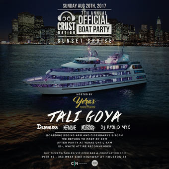7th ANNUAL CRUST NATION BOAT PARTY SUNSET CRUISE