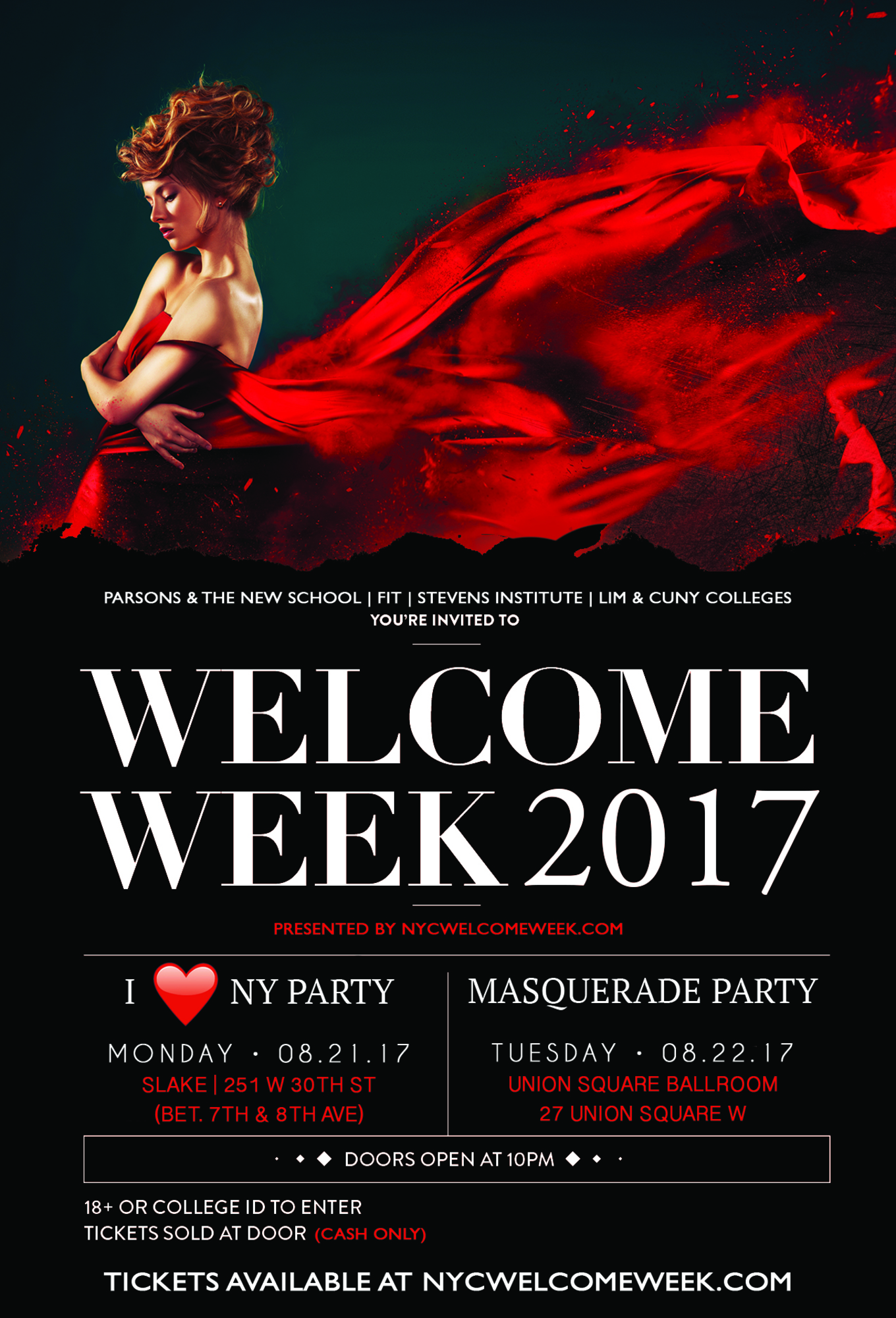 Masquerade Party Union Square Ballroom Pre Welcome Week