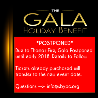 POSTPONED DUE TO THOMAS FIRE & CANCELLED DUE TO DEBRIS FLOW - SBYPC 21st Annual Magic of Old Hollywood Holiday Gala Benefit