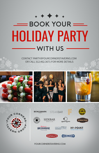Book Your Holiday Party With Us at Schoolyard