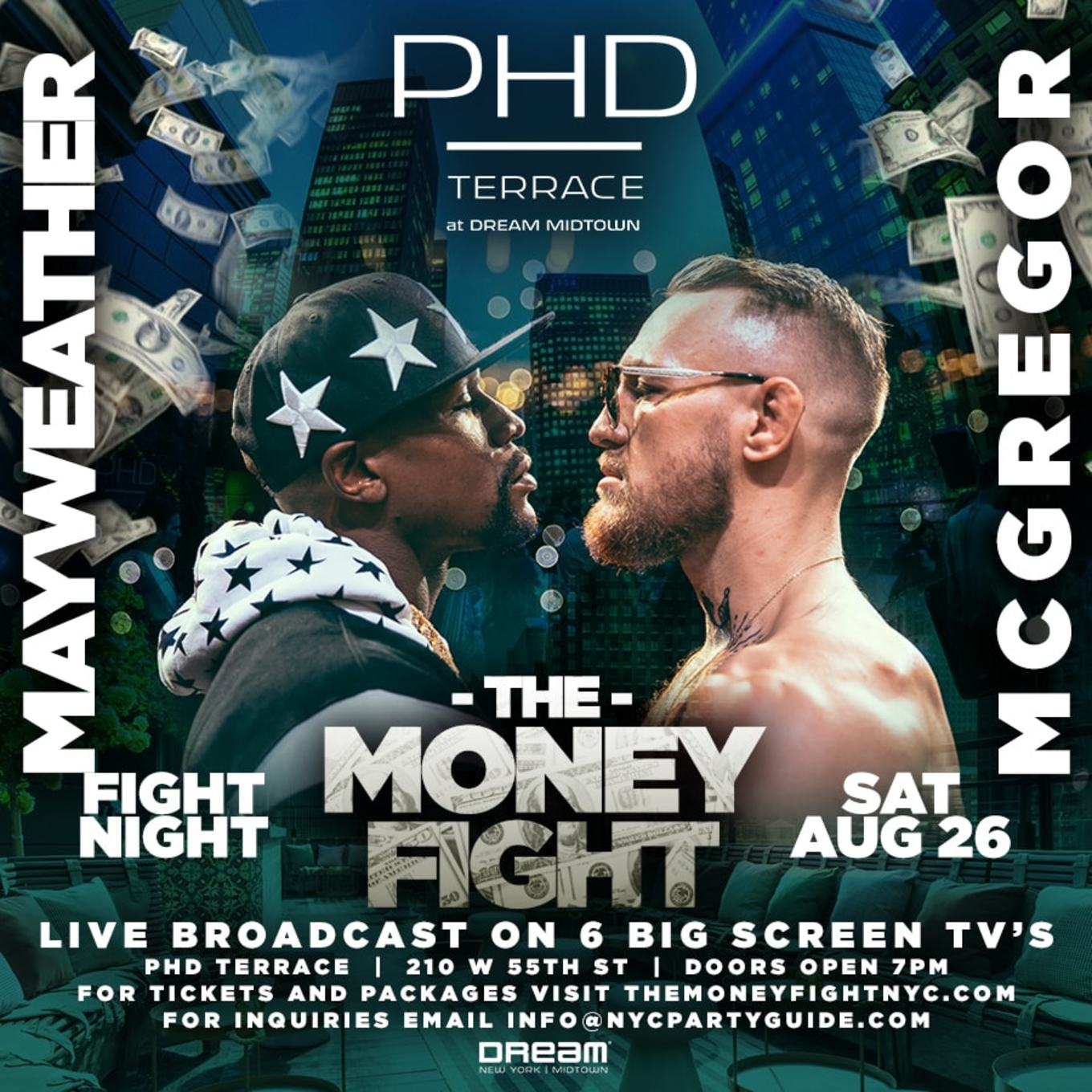 The Money Fight: Mayweather vs. McGregor Viewing Party at PHD ...
