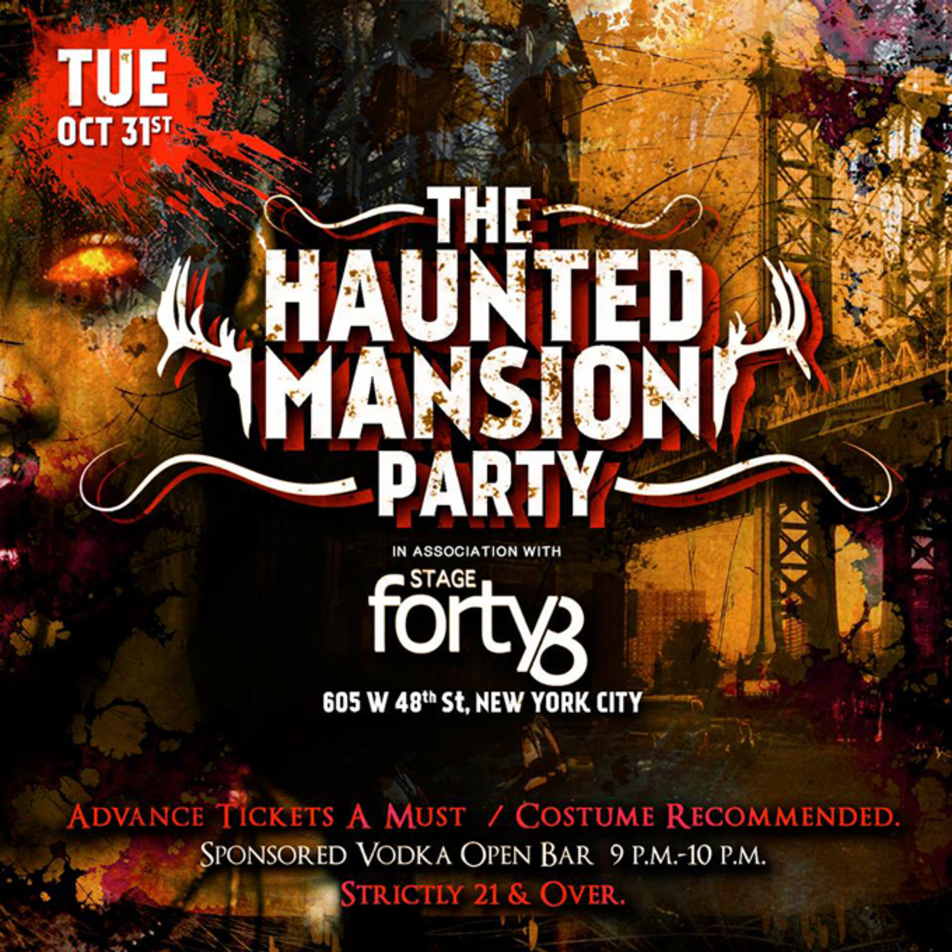 the haunted mansion nycs official halloween night party - Halloween Night Party