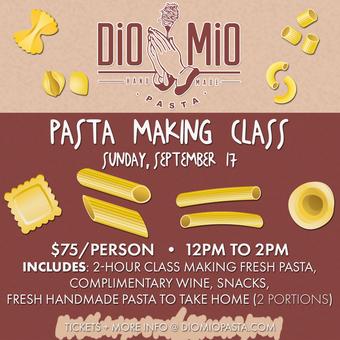 Dio Mio Pasta Making Class