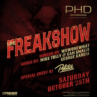 The Freakshow Halloween Party at PHD Dream Downtown