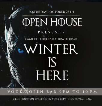 WINTER IS HERE at Open House