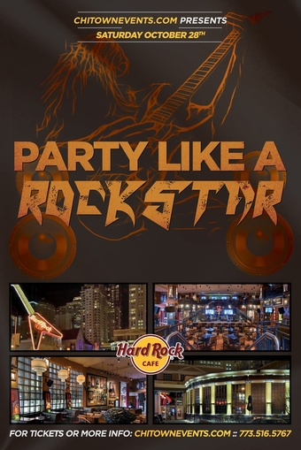 Party Like a Rockstar Halloween Party at The Hard Rock Cafe