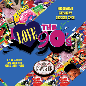 90s Throwback Halloween Party at Deweys