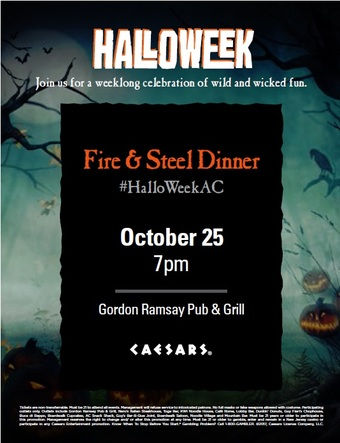 """Fire and Steel"" Gordon Ramsay Pub & Grill Halloween"