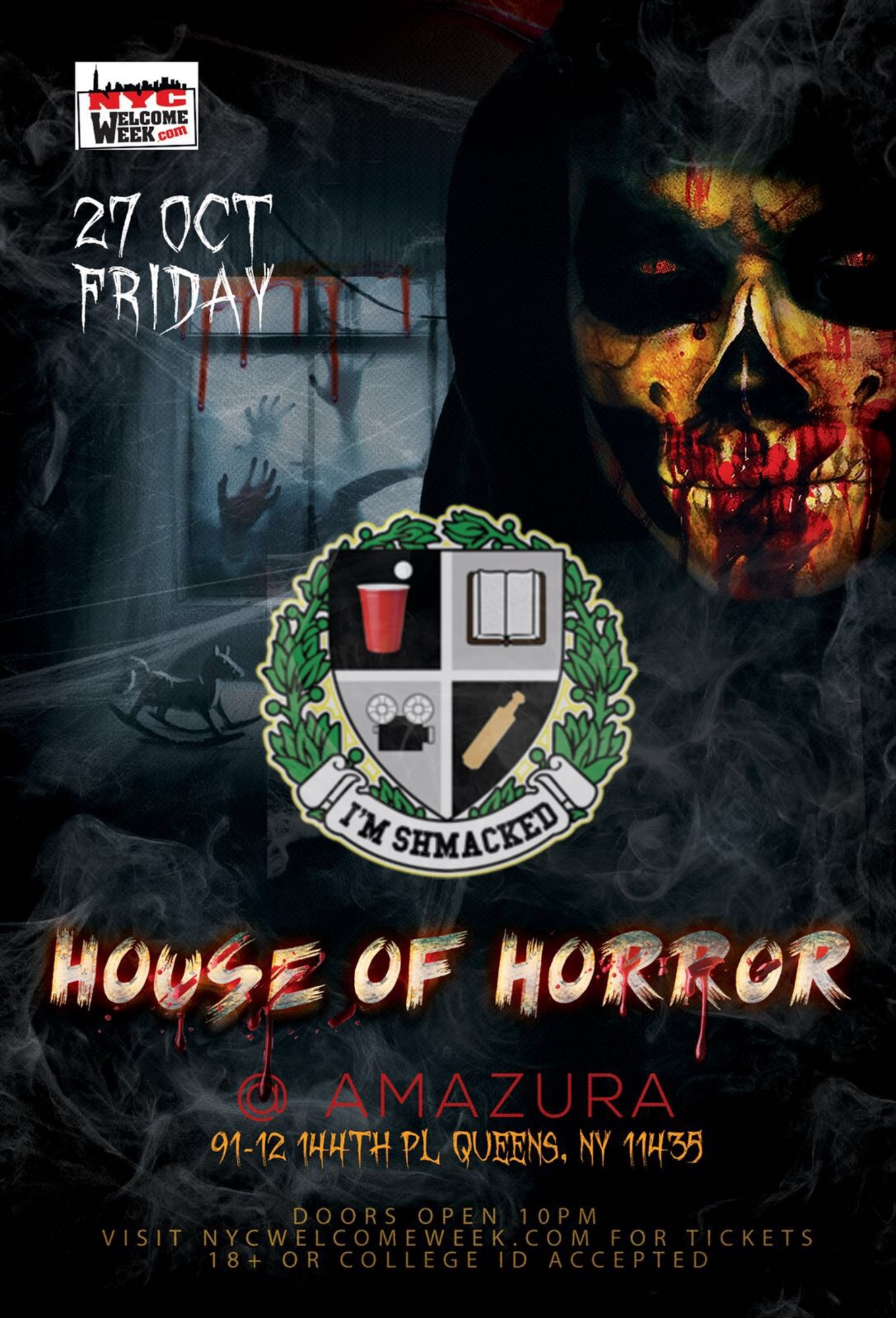 Iu0027M SHMACKED Fall Tour NYC Edition: HOUSE OF HORROR