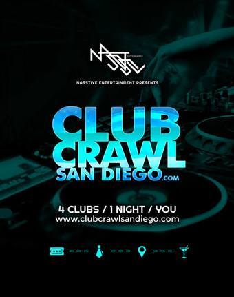 CLUB CRAWL SAN DIEGO ONLINE TICKET