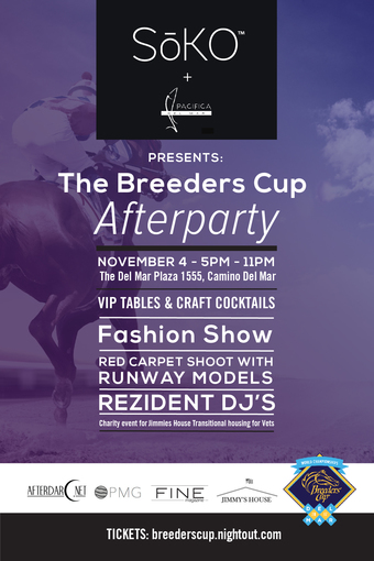 SoKO presents The Breeders Cup Afterparty