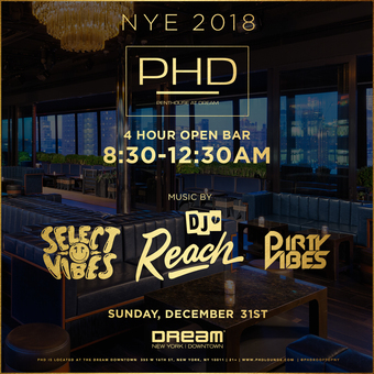 DREAM DOWNTOWN NEW YEAR'S EVE at PH-D